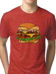 Fat Cheeseburger Tri-blend T-Shirt