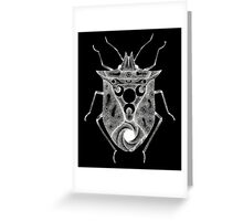 cosmic stink bug in white Greeting Card