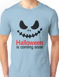 Halloween Is Coming T-Shirt, Funny Pumpkin Ghost Shirt Gift Unisex T-Shirt