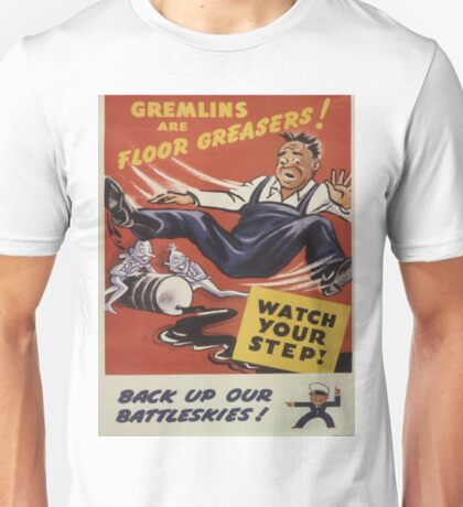 Vintage poster - Gremlins are Floor Greasers Unisex T-Shirt