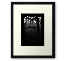 What lies in the mist? Framed Print