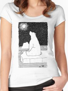 Thoughtful Polar Bear Women's Fitted Scoop T-Shirt
