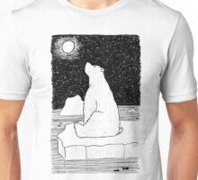 Thoughtful Polar Bear Unisex T-Shirt