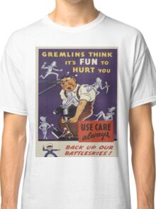 Vintage poster - Workplace safety Classic T-Shirt