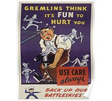 Vintage poster - Workplace safety Poster