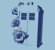 A Rose for the Doctor (blue) by DavidHedgehog