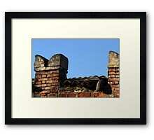 old wooden  walls Framed Print