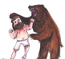 Bear wrestling by Aude Lising    The French Fury