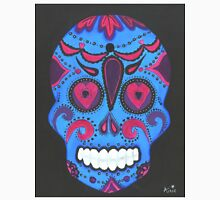 Sugar Skull- Pink and Blue Unisex T-Shirt
