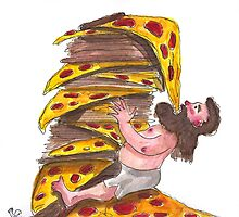 The Leaning Tower of Pizza by Aude Lising    The French Fury