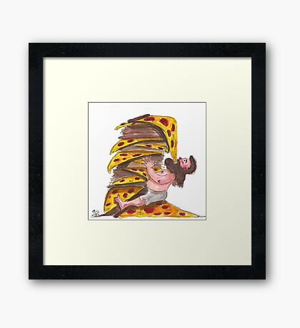 The Leaning Tower of Pizza Framed Print
