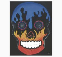 Sugar Skull Elements- Fire and Water Kids Clothes