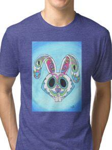 Skull Candy Easter Bunny Sugar Skull Tri-blend T-Shirt
