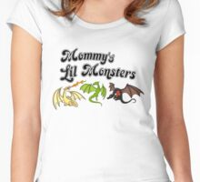 Mommy's Lil Monsters Women's Fitted Scoop T-Shirt