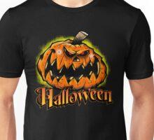 Scary Jack-'o-Lantern Halloween Unisex T-Shirt
