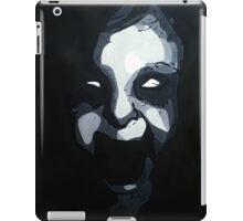 Zombie Screaming Girl Black and White  iPad Case/Skin