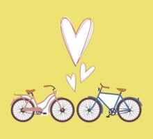 Bike lovers. White background. Kids Clothes