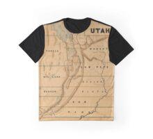 Map of Utah 1871 Graphic T-Shirt
