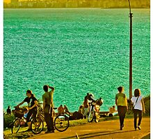 People Enjoyng a Sunny Day in a Park by DFLCreative