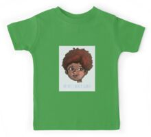 Respect Black Girls - Cute Black-Positivity Doodle Kids Tee