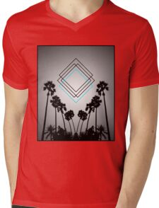 Palm Squares Mens V-Neck T-Shirt