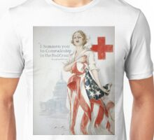Vintage poster - American Red Cross Unisex T-Shirt