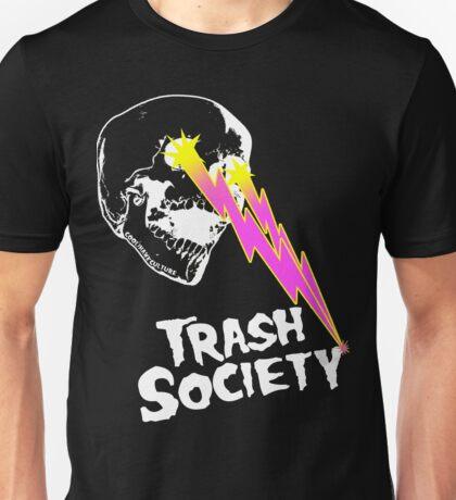 Trash Society Lazer Skull (black) Unisex T-Shirt