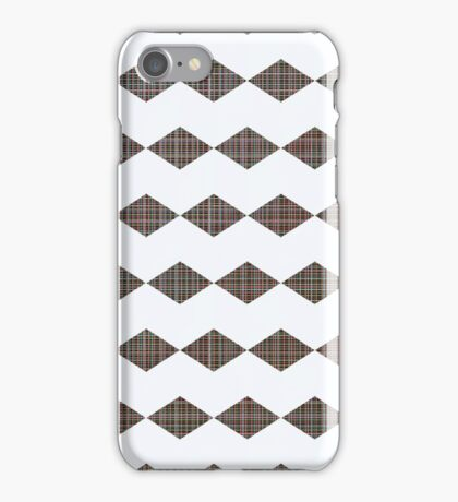 Chevron graph with a twist pattern iPhone Case/Skin