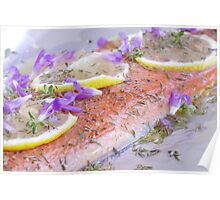 BBQ Dreams-Ontario Wild Lake Trout & Wild Caught Salmon Poster