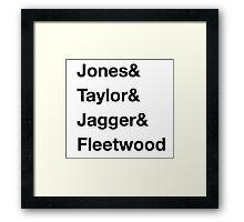 Famous Musicians Named Mick Framed Print