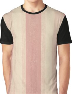 Soft Pink Vertical Stripe Pattern Graphic T-Shirt