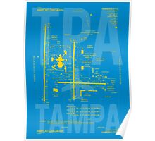TPA Tampa Airport Diagram Poster