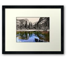 Yosemite - Mirror Lake Framed Print