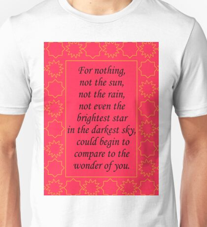 The Wrath and the Dawn - Quote  Unisex T-Shirt