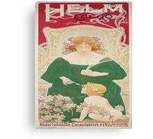 Vintage poster - Helm Cacao Canvas Print