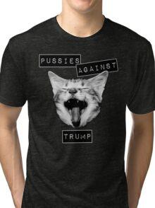 Pussies Against Trump Grey Tri-blend T-Shirt