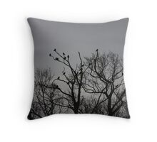 A Murder of Crows Throw Pillow