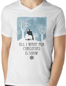 All I Want For Christmas Is Snow T-shirt Mens V-Neck T-Shirt