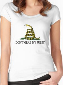 DGMP - DON'T GRAB MY PUSSY Yellow Women's Fitted Scoop T-Shirt