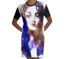Ink splash Graphic T-Shirt Dress