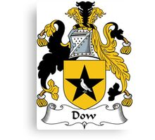 Dow Coat of Arms / Dow Family Crest Canvas Print