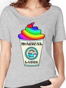 Magical Unicorn Latte for a Hipster and Starbucks Frappucino Lover Women's Relaxed Fit T-Shirt