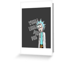 """Rick from """"Rick and Morty"""" Greeting Card"""