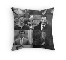 Christian Grey Throw Pillow