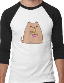 Pupsheen Eating Ramen Men's Baseball ¾ T-Shirt