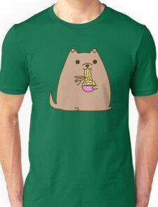 Pupsheen Eating Ramen Unisex T-Shirt