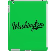 Washington Script Black iPad Case/Skin