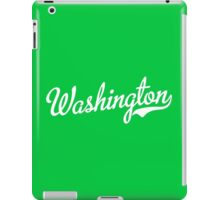 Washington Script White iPad Case/Skin