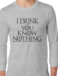 Game of Thrones - Drink Nothing Long Sleeve T-Shirt
