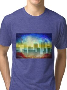 Minimalist, abstract colorful Urban design Tri-blend T-Shirt